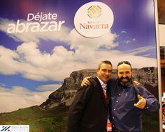 Paco de @ruralsuite y @JaviSentidos @cenasentidos Algo bueno estaban tramando para este año en #Fitur2013 #Navarra