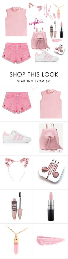 """Pink 💕"" by blackeupinkeu ❤ liked on Polyvore featuring RED Valentino, adidas, Hot Topic, PhunkeeTree, BOBBY, Maybelline, MAC Cosmetics, Silver Rain and By Terry"
