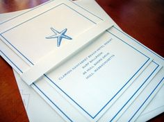 Simple beach wedding invitations--yes yes yes! Love the simplicity!