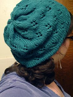 Assorted Colours Hand-Knitted Ladies Beaded Beret Hat ALPACA