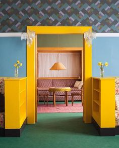 deco in surprisingly modern colors and patterns setdeco ADOLF LOOS House Brummel, Plseń Czech Republic, 1929 Interior Architecture, Interior And Exterior, Interior Styling, Interior Decorating, Interior Inspiration, Design Inspiration, Design Set, Mellow Yellow, House Colors