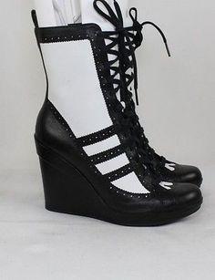 7f2b83b20b89d7 Adidas Women White Black For Canada Jeremy Scott High Grade Boots Shoes  Leisure