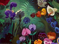 disney crossover Empty Backdrop from Alice in Wonderland