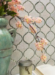 Veranda Niveous Quartz & Mirror Tile - Arabesque Tile - Shop By Tile Shape and Pattern