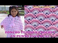Poncho o Capa tejida a crochet o ganchillo paso a paso en Punto pavo Real TODAS LAS TALLAS – Harika Örgü Modelleri, Tığ Modelleri Easy Baby Knitting Patterns, Crochet Dolls Free Patterns, Crochet Stitches Patterns, Crochet Designs, Crochet Baby Cardigan, Crochet Shawl, Knit Crochet, Crochet Gifts, Crochet Motif
