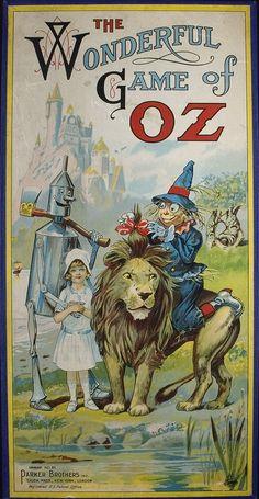 The Wonderful Game of Oz. Salem: Parker Brothers, 1921.