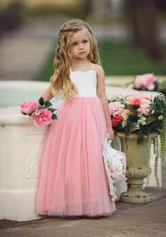 18969f629 3D Flowers Off Shoulder Spaghetti Straps Flower Girl Dress. See more. - Available  Sizes :S;M;L;XL;XXL - Waist(