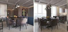 Современный дизайн квартиры площадью 175 м2 для молодой, активной, продвинутой семьи с очень тонким чувством стиля и вкусом.