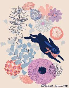 Forest Critters. Victoria Johnson illustrated - http://printpattern.blogspot.co.uk/