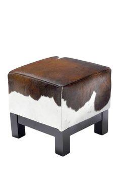 seville cowhide ottoman by flashback genuine brazilian cowhide on hautelook