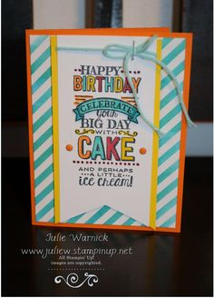 Stampin' Up! Sale-a-Bration Big Day Card by Julie Warnick