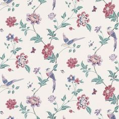 Elveden Cranberry Wallpaper