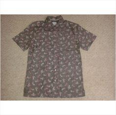 Designer FAT FACE Mens Smart Casual Button Fasten Short Sleeve Shirt Top