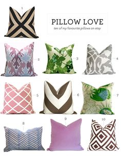 a list of the best pillows (and sellers) on etsy.