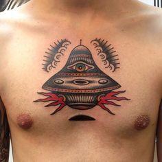 simple ufo tattoo - Google Search