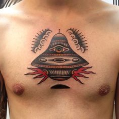 simple ufo tattoo - Google Search