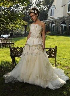 Celebrity wedding gown:  Alyssa Milano's wedding dress