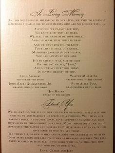 Catholic wedding program Nuptial mass wedding Detroit Sweetest Heart of Mary In memory Thank you