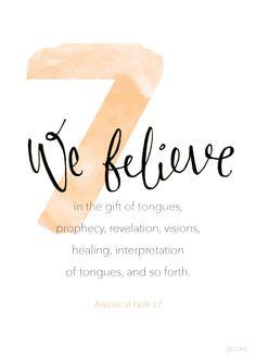 Article of Faith 1:7 #Faith