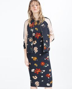 Image 5 of FLORAL TUBE DRESS from Zara