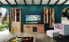 Schröder Wohnzimmer Einrichtung aus Wildeiche - Möbel Mit www.moebelmit.de