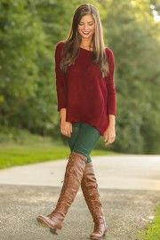 PIKO:Just About Anywhere Snuggle Sweater-Wine
