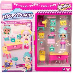 Shopkins Season 3 Happy Places Welcome Pack - Clever Kitty Classroom