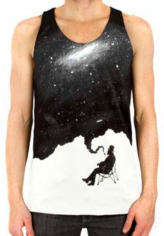 The Giant Peach - Imaginary Foundation - Nostalgic Mood Men's Tank Top, Black, $30.00 (http://www.thegiantpeach.com/imaginary-foundation-nostalgic-mood-mens-tank-top-black/)