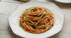 Zucchini noodles with sesame sauce - Wholesome zucchini noodles make this dish as healthy as it is tasty.