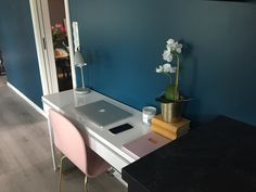 Office in the livingroom! #sostrenegrene #ikea #ellos #jysk #macbook