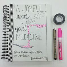 Proverbs 17:22. Bible journaling.