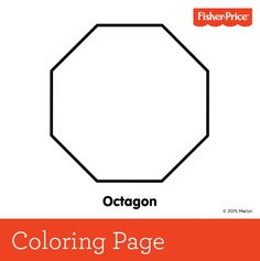 It s hip to be a square kids can color this page in to be for Octagon coloring page