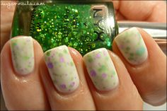 """""""Jelly Sandwich"""" Essie Marshmellow - and NYX Enchanted Forest and Super Funk"""