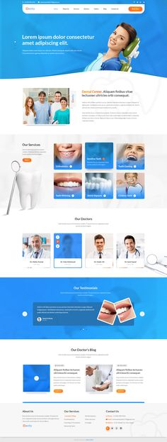 Need a website for your medical business that is easily customizable and yet feature rich and trendy looking? Choose premium medical templates from the web design masters at Template Monster. Medical Websites, Medical Memes, Medical Facts, Dentist Website, Hospital Website, Pag Web, Medical Office Design, Dental Design, Dental Center