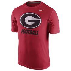 Georgia Bulldogs Nike Sideline Legend Logo Performance T-Shirt - Red - $22.99