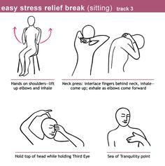 Acupressure Stress Relief Illustrations