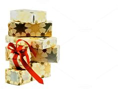 Stack of Gift Boxes by zhekos on Creative Market