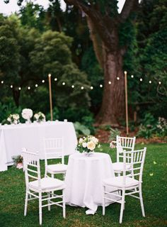 What We're Loving: Less Is More   Simple seating arrangement for outdoor wedding