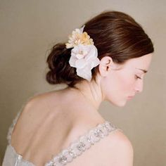 another lovely silk flower comb by twigs & honey