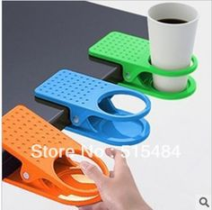 Free Shipping 3 Pcs Mixed Creative Deskside Clip Cup Holder Big Clip Kitchen Table Tableware Home Essential Wholesale 16X7.5X3CM