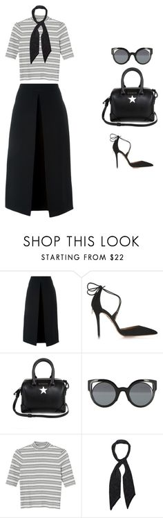 """""""#89"""" by fashionlee-co ❤ liked on Polyvore featuring McQ by Alexander McQueen, Aquazzura, Givenchy, Fendi, Monki, Rockins, women's clothing, women, female and woman"""