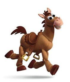 Bullseye from Toy Story film (horse pose walking). Toy Story 1995, Toy Story Buzz, Toy Story Party, Disney Toys, Disney Movies, Disney Pixar, Walt Disney, Cumple Toy Story, Festa Toy Story