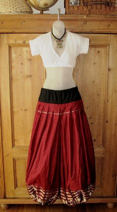 Red Silk Sariloons by 13costumes | Gypsy Dream