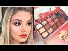 Too Faced Sweet Peach Palette Makeup Tutorial ♡ Jasmine Hand - YouTube