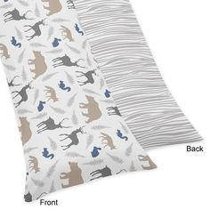 Body Pillow Case for the Woodland Animals Collection by Sweet Jojo Designs, Multi