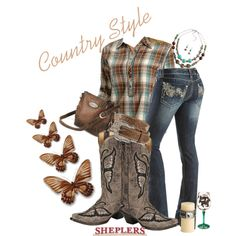 """Country Girl Style"" by sheplers-western-wear on Polyvore (not sure about the boots but I like the rest of the outfit)"