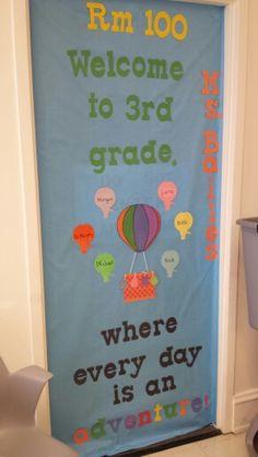 3rd grade hot air balloon adventure door
