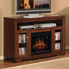 Palisades 23 in. Electric Fireplace Entertainment Center in Empire Cherry - 23MM070-C244