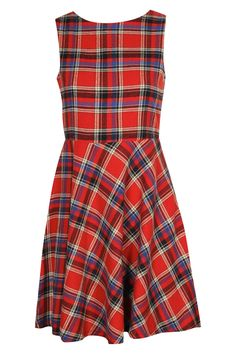 Tartan Skater Dress- cute back detail too.