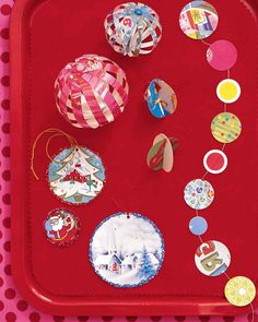 Holiday cards make perfect ornaments: dazzling and delicate yet impossible to break. In a few steps, turn cards into darling globes or circles that lock together, ready to twirl.